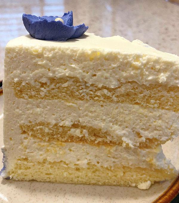 Japanese Cheesecake slice